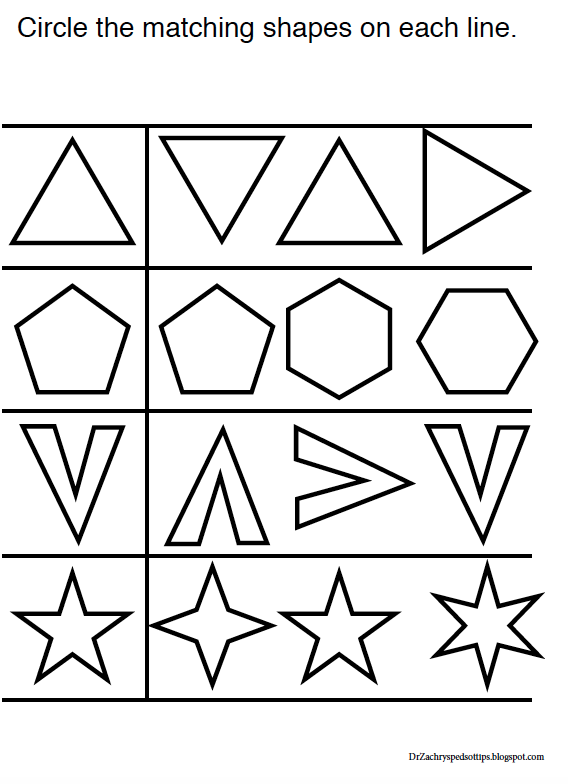 Pediatric Occupational Therapy Tips Free Visual Perceptual Worksheets – Visual Perceptual Worksheets