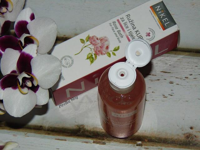 NIKEL, Płyn do kąpieli 2w1 z różą damasceńska i olejem ze słodkich migdałów