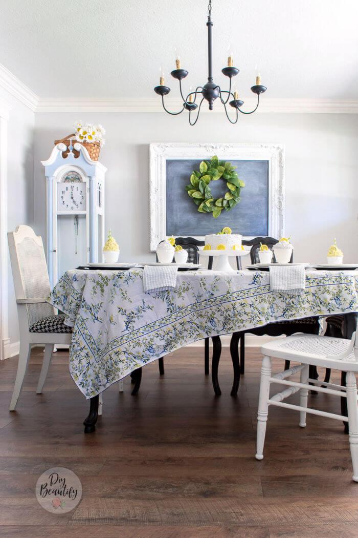 summer dining room decor