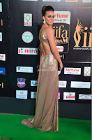 Lerisa Bonisa in a Sleeveless Deep neck Golden Gown ~  Exclusive 017.JPG