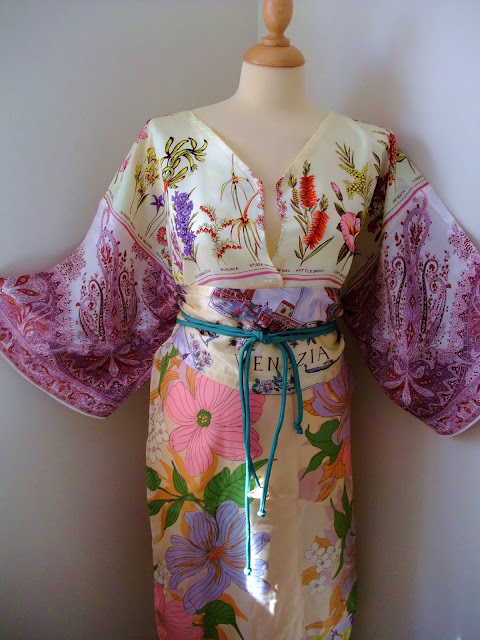 vintage scarf full length kimono and obi sash by karen vallerius