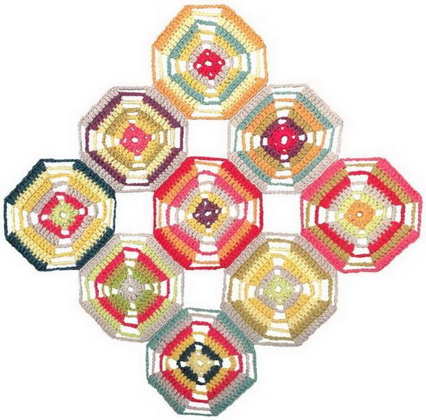 Crochet Throw - Easy Octagon Crochet Motif