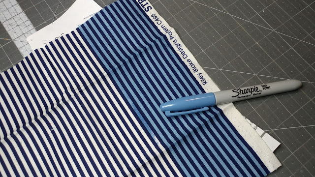 Making my own striped fabric with a Sharpie