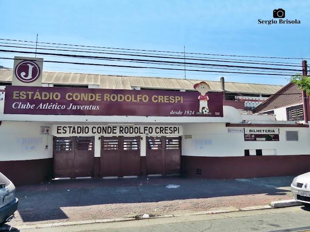 Vista da entrada do Estádio Conde Rodolfo Crespi (Juventus) - Mooca - São Paulo