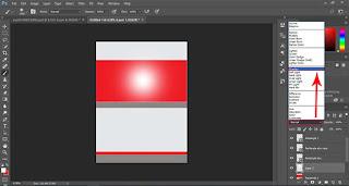Untuk membuat warna gradiasi pada objek shape bewarna merah silakan pilih jenis brush seperti gambar dibawah.