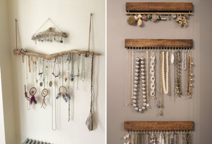Shibar ita ideas para organizar los accesorios - Como colgar collares ...