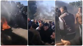 (بالفيديو) عاجل | القصرين: حالة احتقان كبيرة في اعتصام الدولاب و اقتحام المنشأة النفطية لحرقها