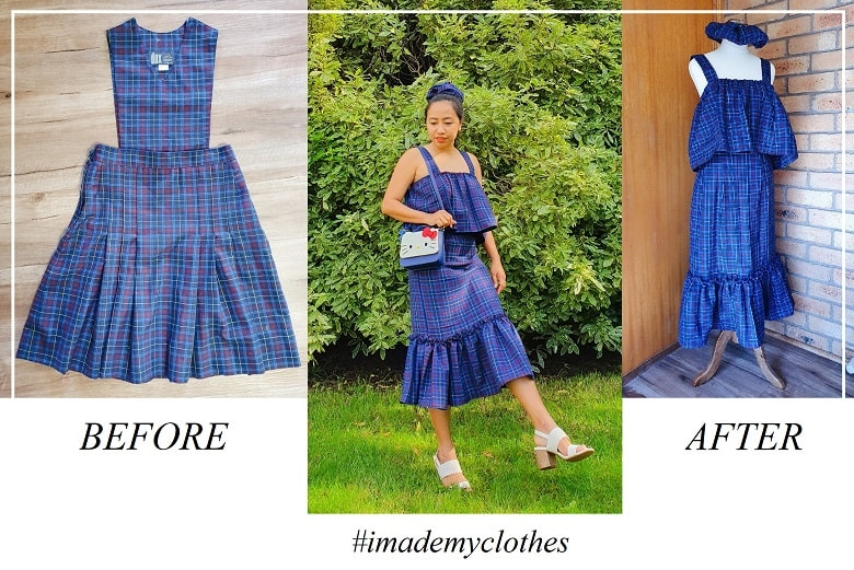 Uniform Upcycling: How I Turn this Old Winter School Uniform into a Dress… plus 3 Looks!