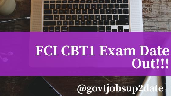 fci cbt 1 exam date