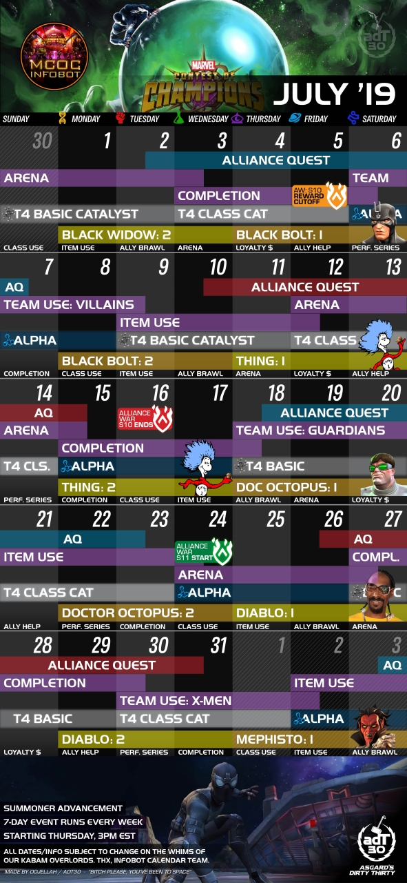 July 2019 Update (Calendar, New Event, Bug Fixes and