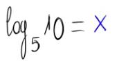 Cálculo de un logaritmo por la fórmula de cambio de base 2
