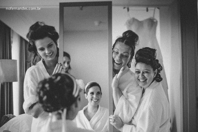 Fotos criativas de noiva com o espelho