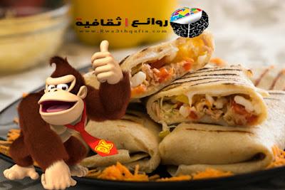 كريب بالبشاميل وشرائح اللحم المدخن Crepe with balsamic
