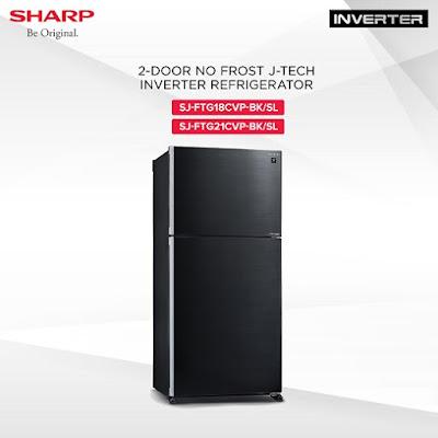 Sharp 2 door No Frost Inverter Refrigerators (SJ-FTG21CVP-BK/SL) (SJ-FTG18CVP-BK/SL)