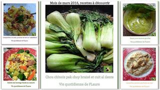Vie quotidienne de FLaure : Vos préférences (recettes) : mois de mars 2016