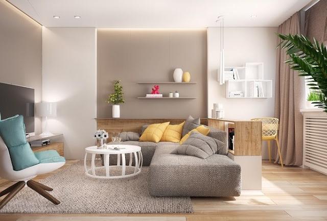 Warna cat bagian dalam ruangan yang elegan - warna cat rumah minimalis modern