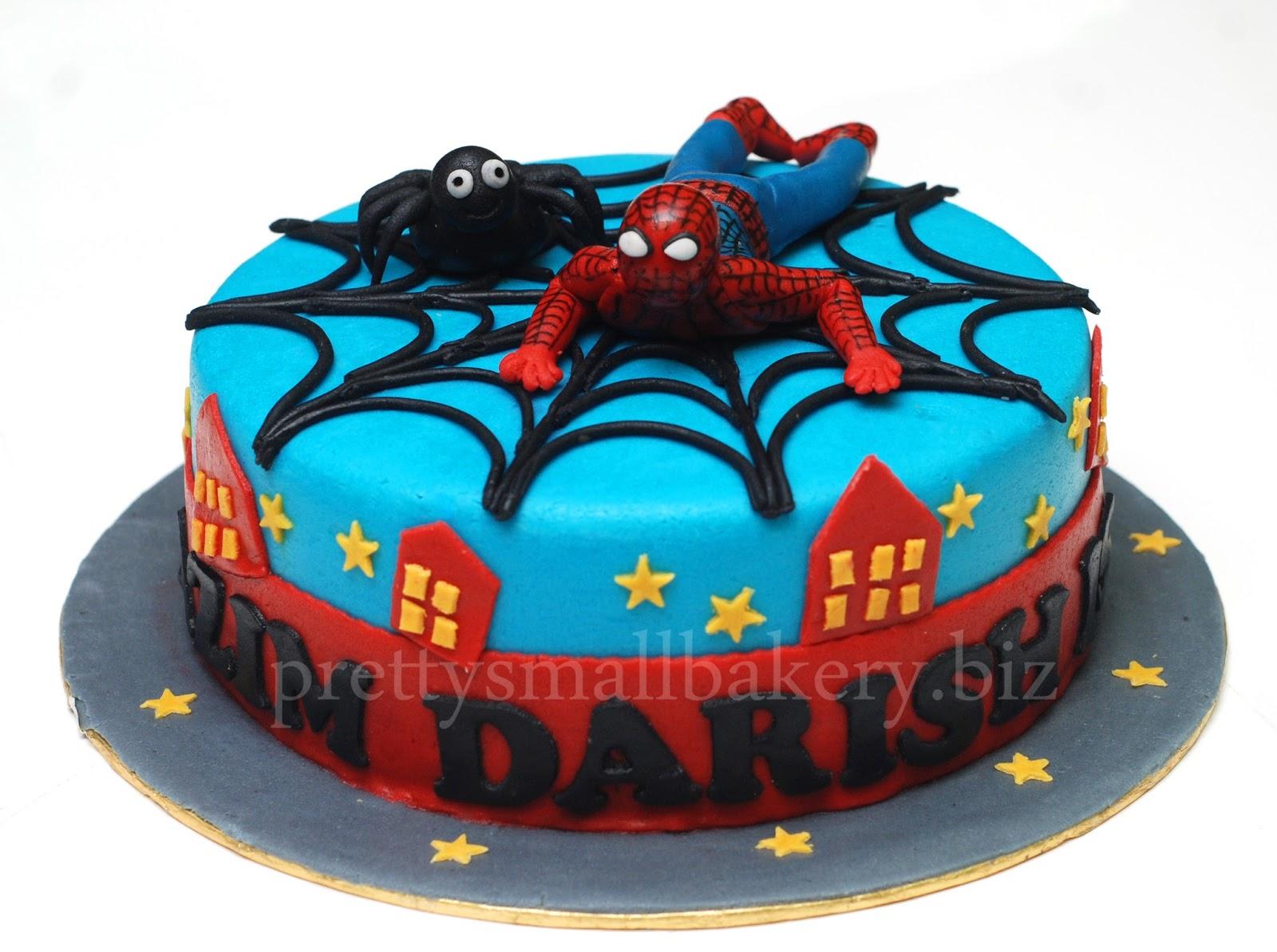 Kek Birthday Spiderman Prettysmallbakery