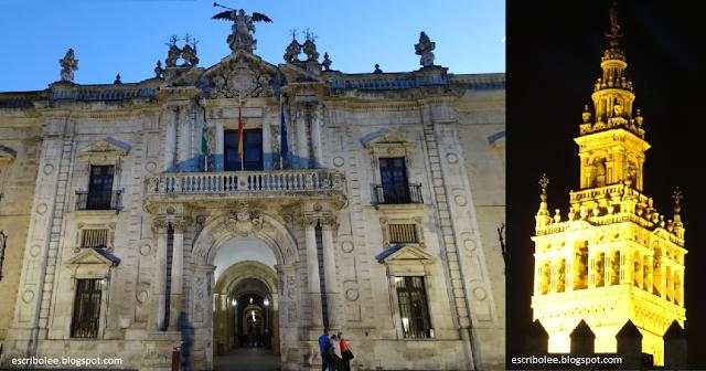 Escapada a Sevilla: Fábrica de tabacos y muralla del barrio judío con la Giralda de fondo