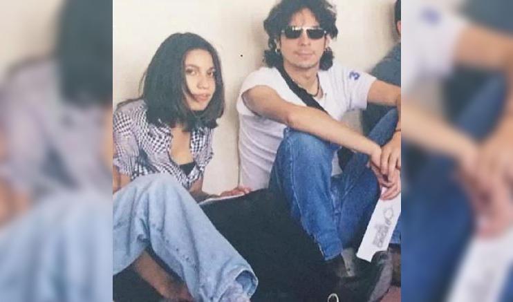 Con quién aparece Alejandra Valle en esta foto del recuerdo
