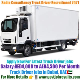 Sadia Consultancy Truck Diver Recruitment 2021-22