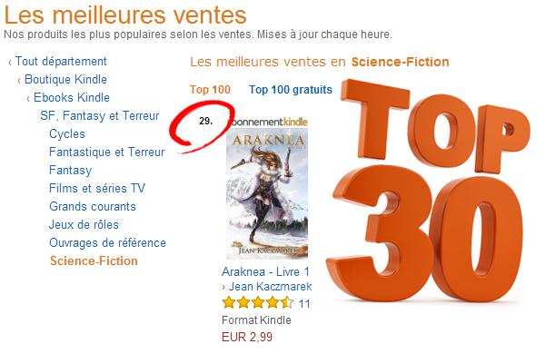 Top30 Ebooks Kindle Science Fiction Pour Araknea