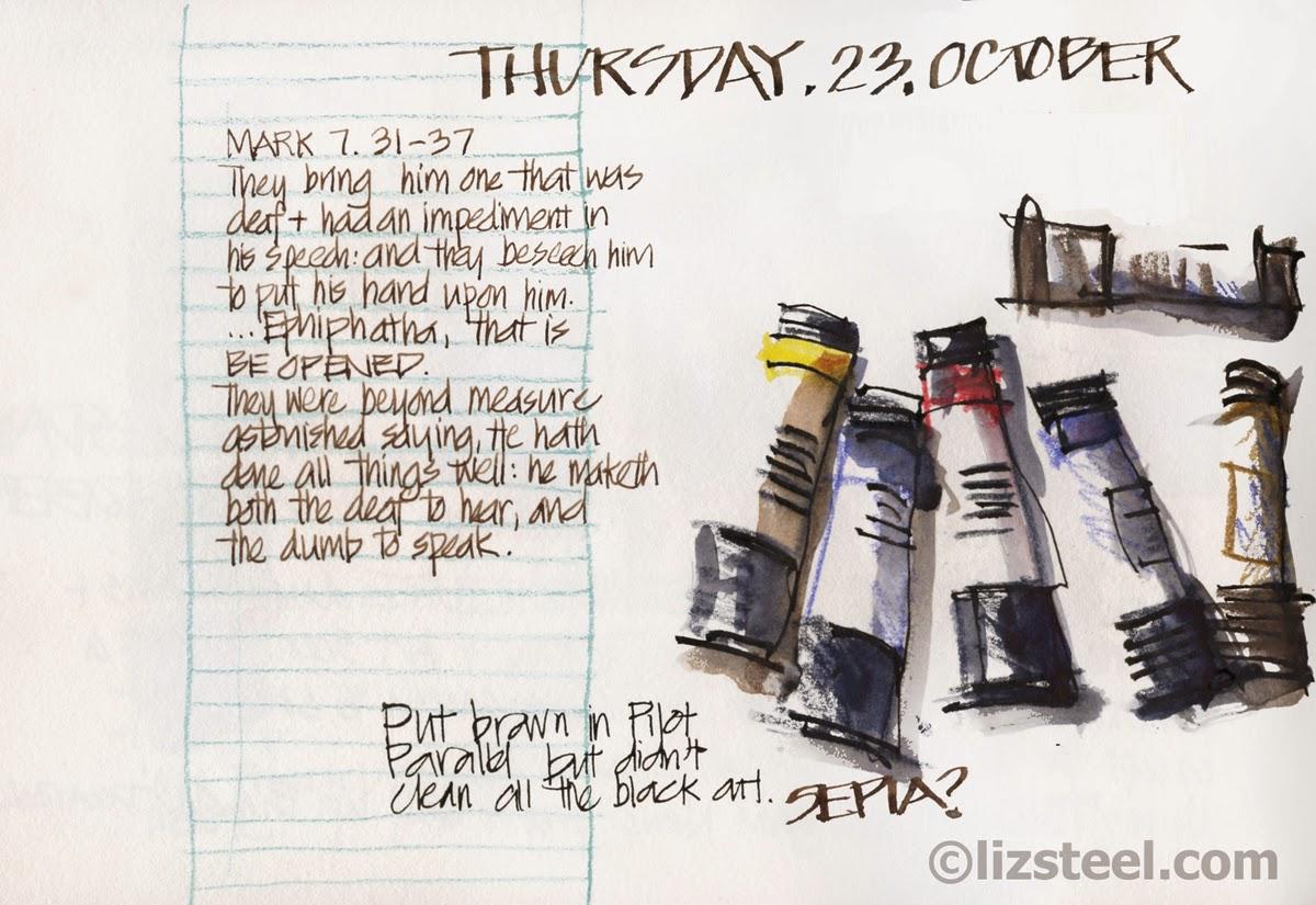using watercolour pencils - liz steel : liz steel
