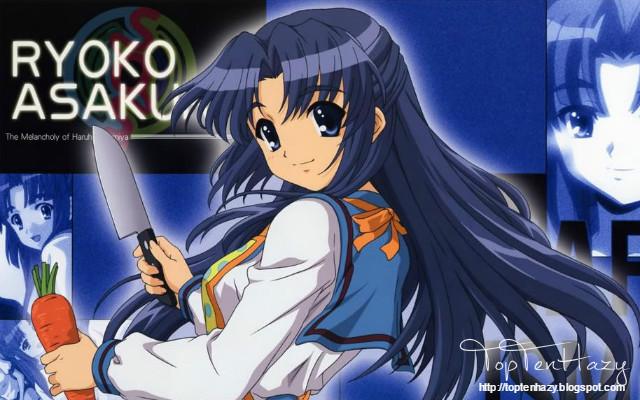 Ryoko Asakura (Haruhi Suzumiya) 10 yandere nổi tiếng trong anime