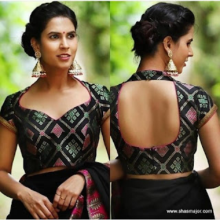 blouse back neck designs catalogue