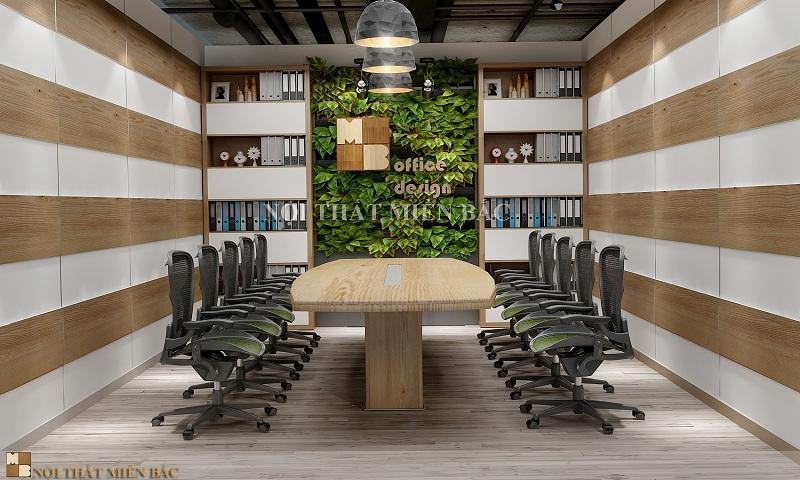 Thiết kế nội thất phòng họp đẹp với cây xanh