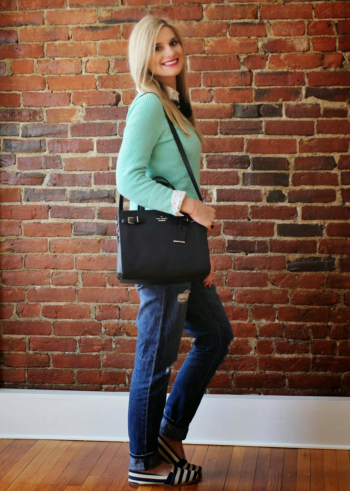 bijuleni - Casual look with Kate Spade handbag