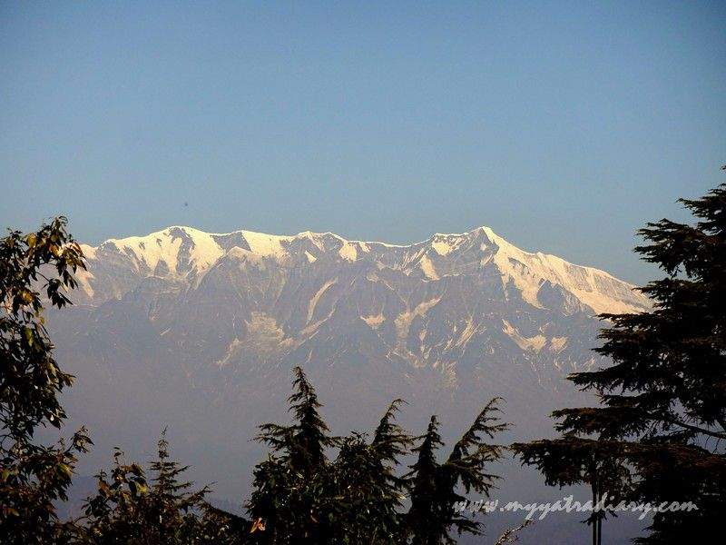 Snow capped Himalayas enroute Kasar Devi Temple, Uttarakhand