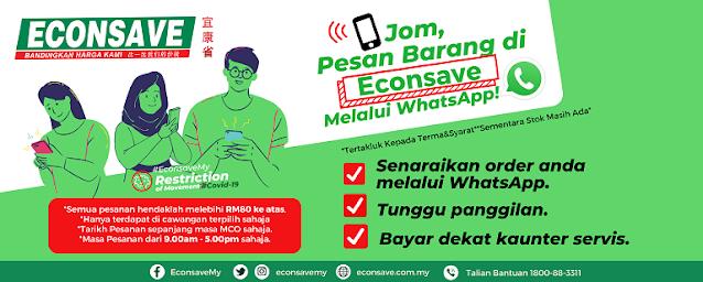 Pesan Barang Di Econsave Melalui Whatsapp