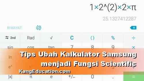 Cara memunculkan Kalkulator Scientific di HP Samsung
