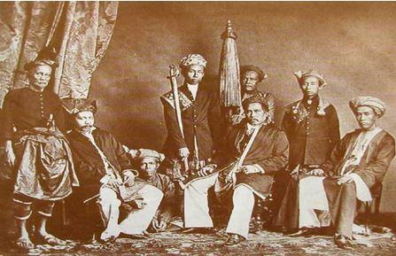 Sultan Mahmud Syah di Istana Lingga