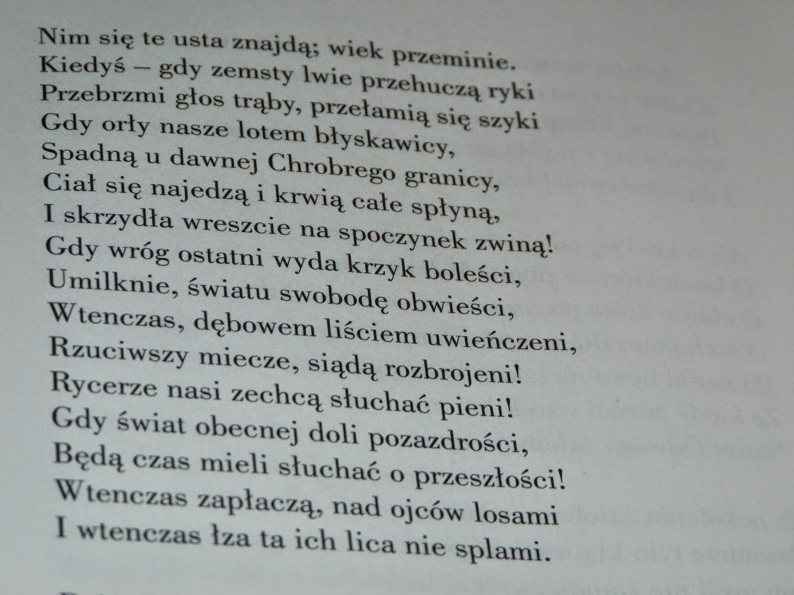 Z Pasją O Dobrych Książkach I Nie Tylko Pan Tadeusz