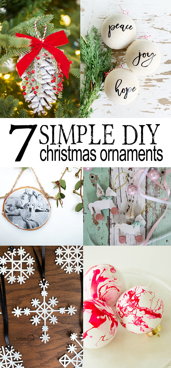 handmade Christmas ornaments you can recreate easily