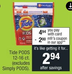 Snuggle, All & Tide Pods CVS Deals