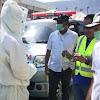 Bhabinkamtibmas Kelurahan Bontolebang Polsek Galut Melaksanakan Pengamanan Kunjungan Bupati Takalar Ke Puskesmas Bontolebang