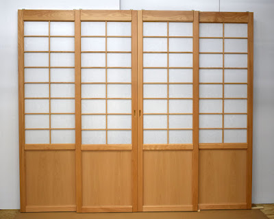 Custom Japanese style shoji screens