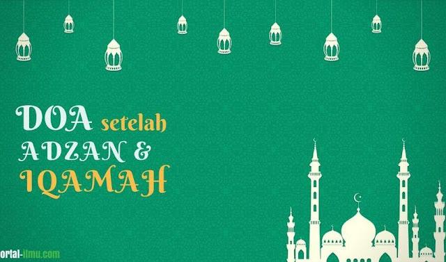 Fadhilah membaca doa setelah adzan