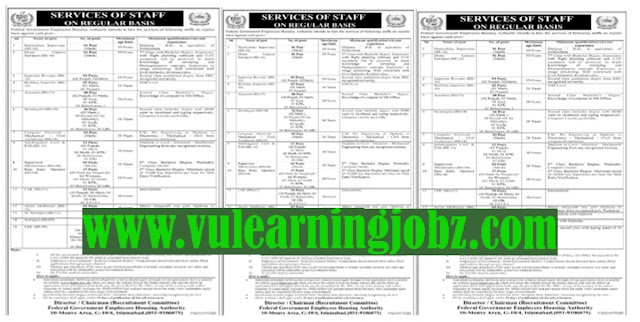 Latest Jobs In Federal Government Employees Housing Authority FGEHA Jobs 2021 For Supervisor, Inspector Revenue, Computer Technician,Data Entry Operator, UDC,Surveyor, LDC & MORE