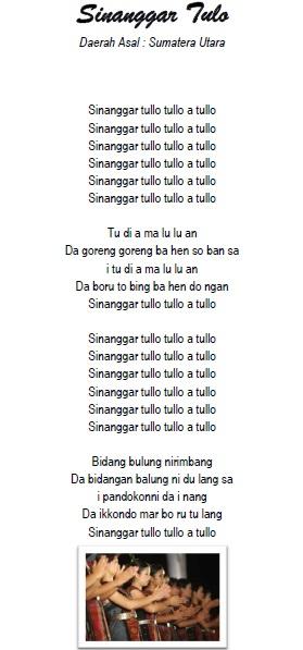 Lirik Sinanggar Tulo : lirik, sinanggar, Lirik, Sinanggar, Daerah, Sumatera, Utara, Seputar, Budaya