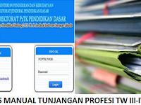 Berkas Manual Persyaratan Tunjangan Profesi TW III-IV 2015