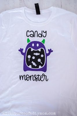 all the vinyl on the candy monster shirt
