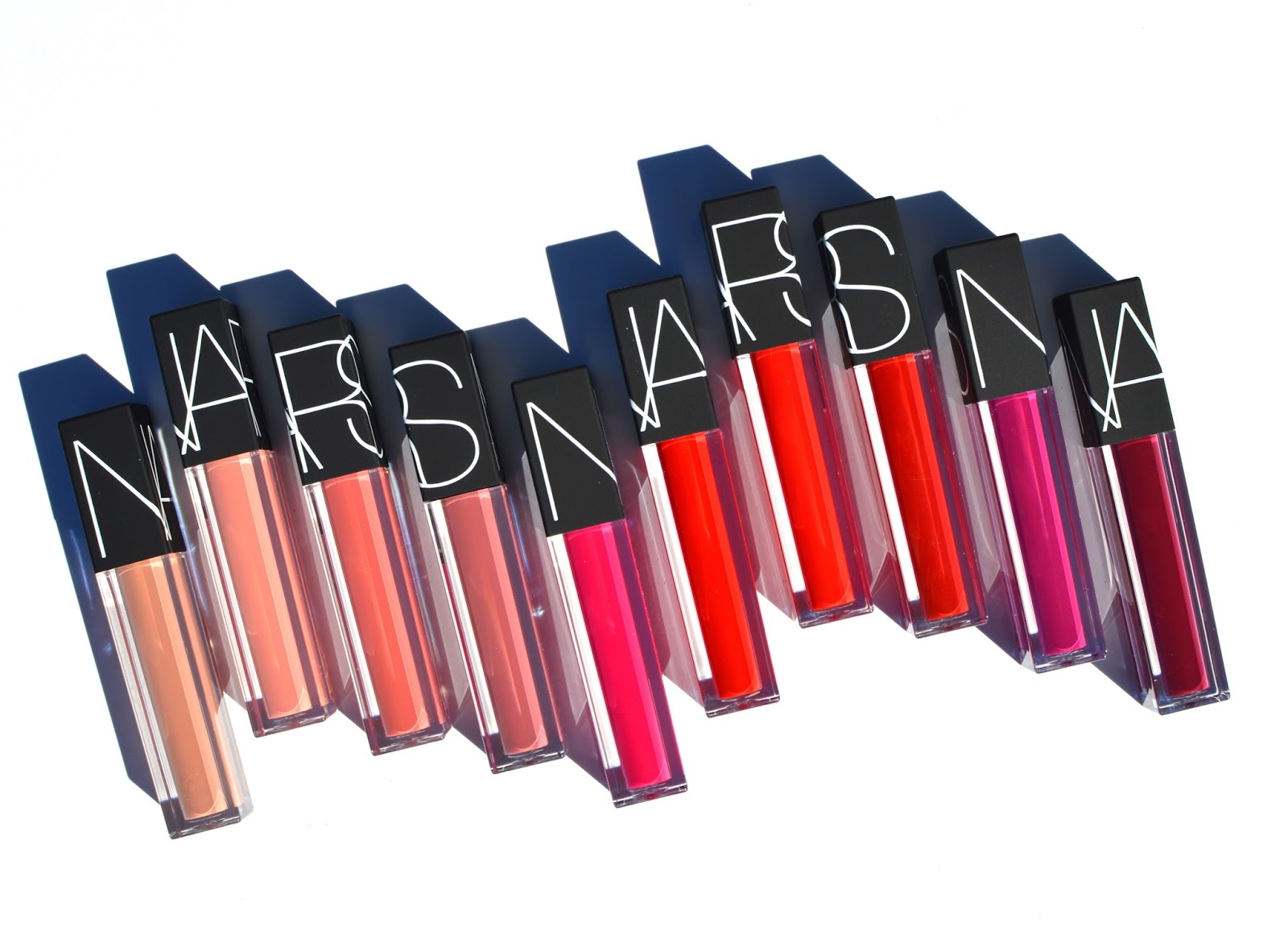 NARS Velvet Lip Glide Swatches Review On Lips All Shades