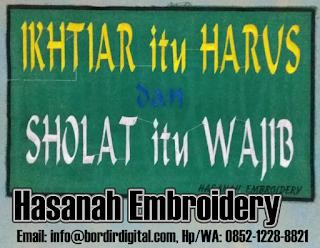 Harga Jasa Bordir Komputer - Hasanah Embroidery
