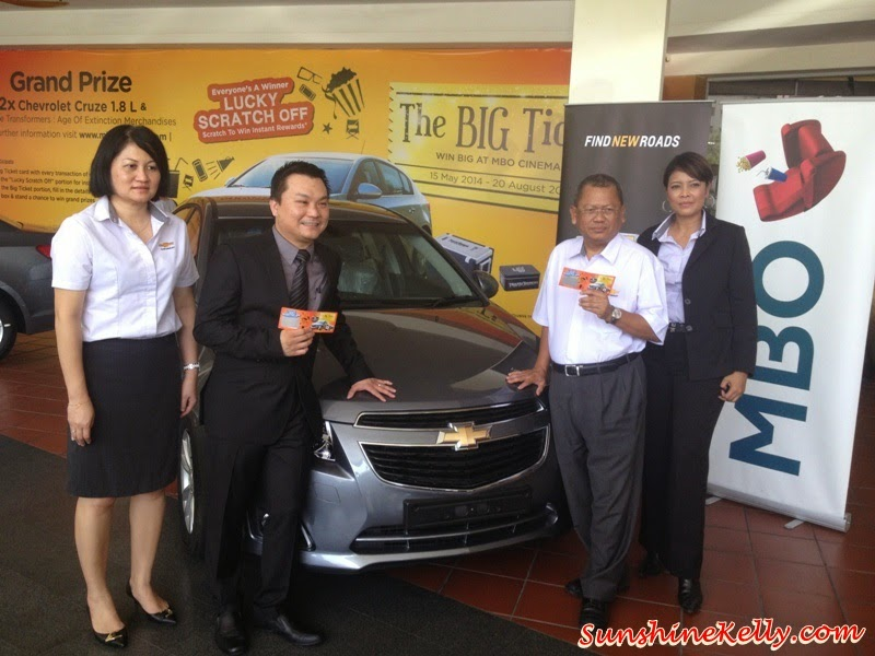 The Big Ticket Contest, Lucky Scratch Off, MBO Cinemas, contest, win car, win chevrolet cruze sedan