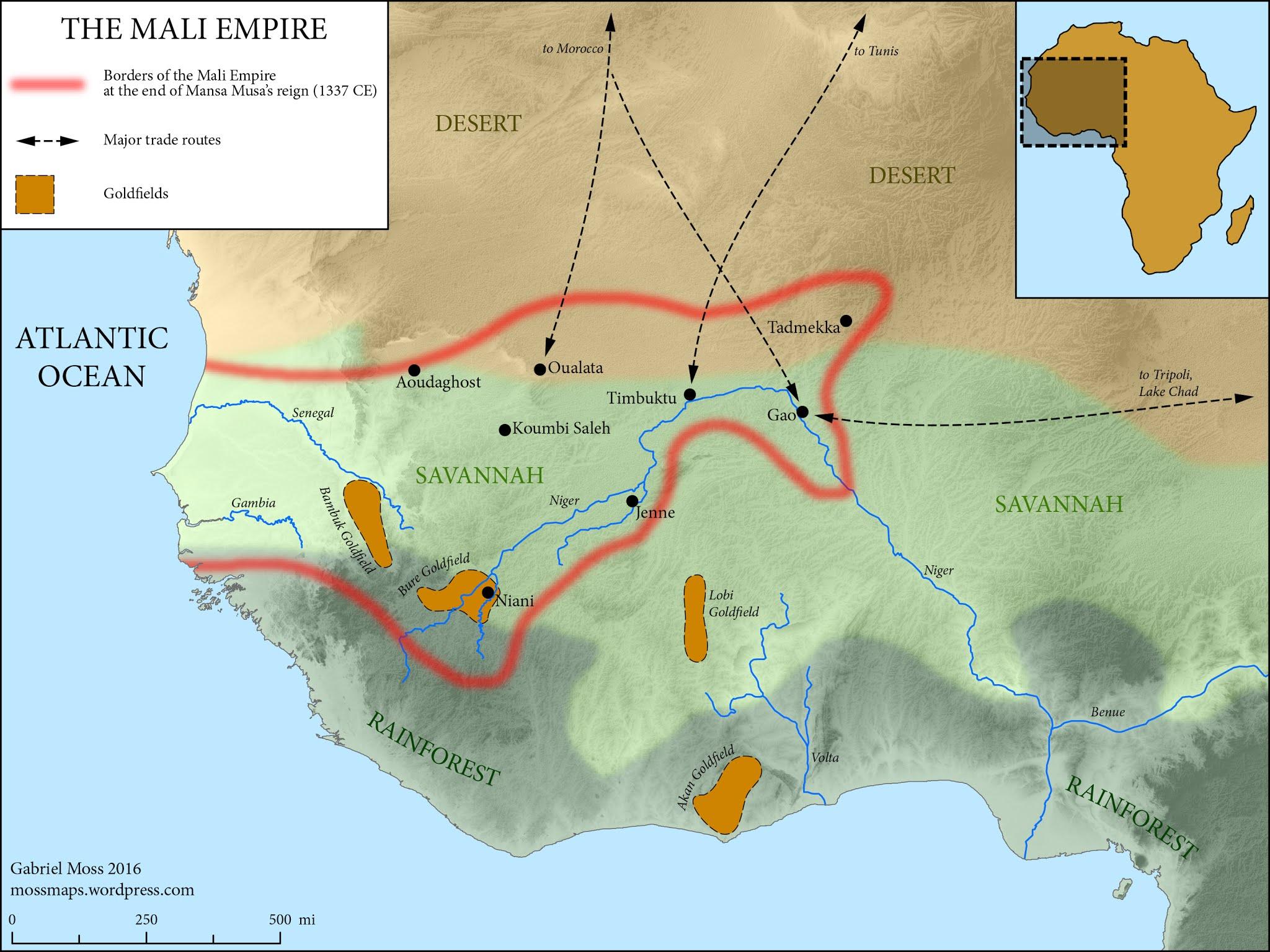 El imperio de Mali en la época de Mansa Musa