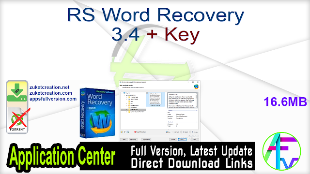 RS Word Recovery 3.4 + Key