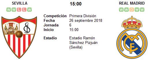 Sevilla vs Real Madrid en VIVO